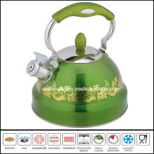 Flower Painted Stainless Steel Tea Kettle